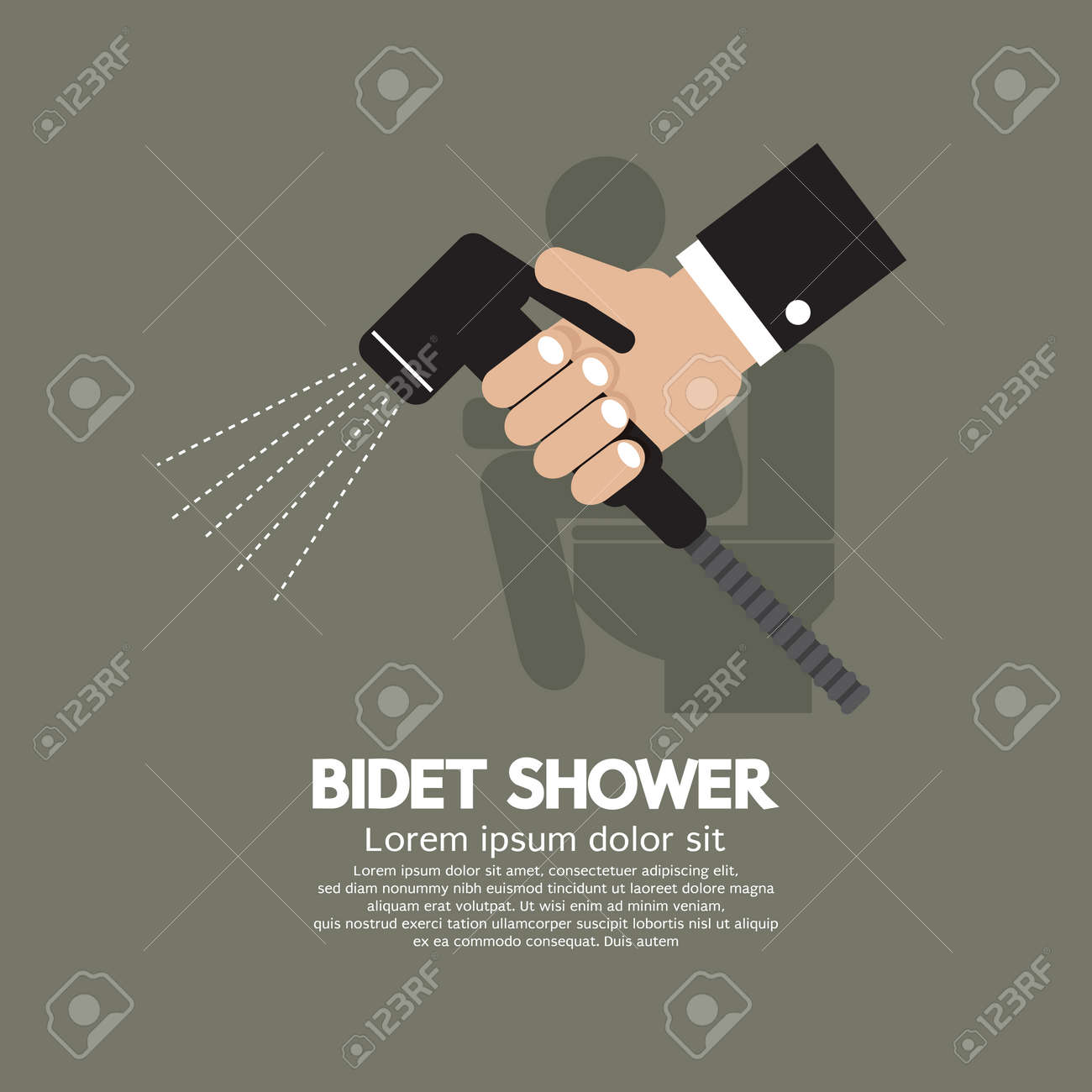 Hand Using A Bidet Shower Vector Illustration Royalty Free Cliparts Vectors And Stock Illustration Image 34257186
