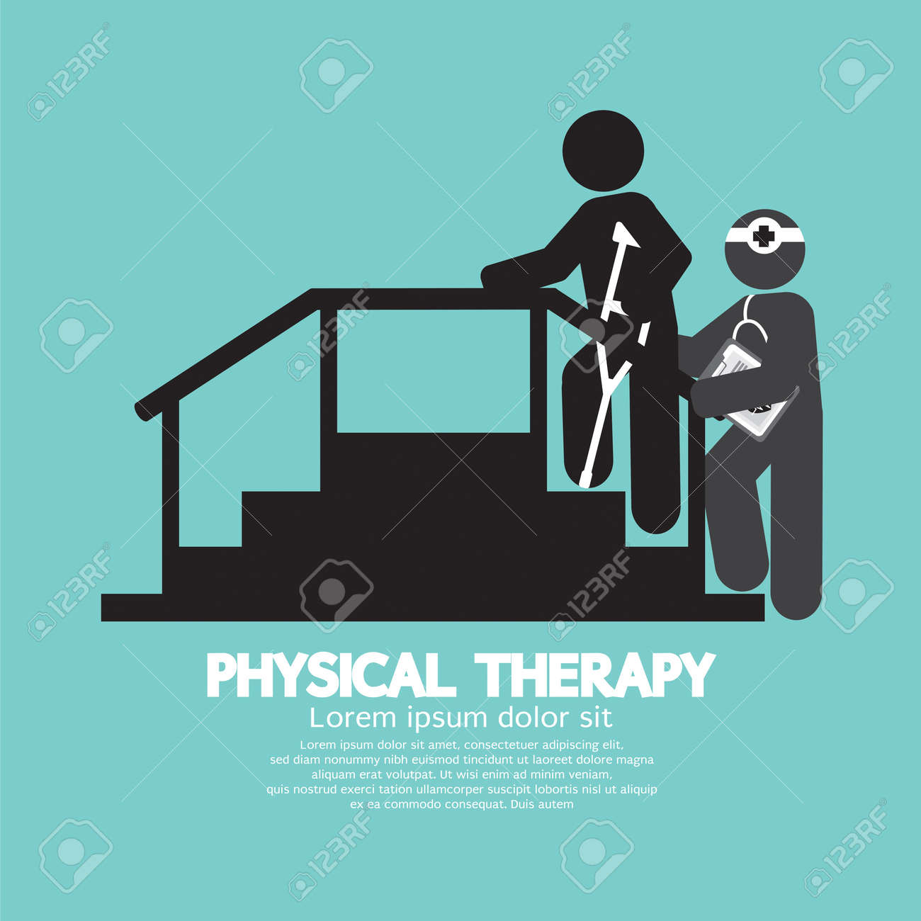 Cartoon physical therapy - Black Symbol Physical Therapy Vector Illustration Stock Vector 37117754