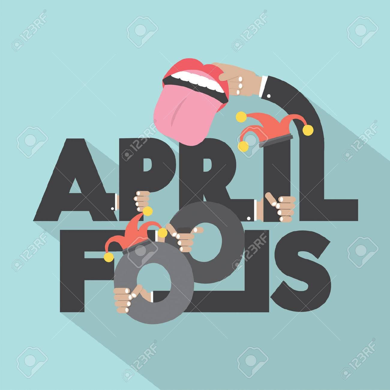 April Fools Typography Design Vector Illustration - 37686634