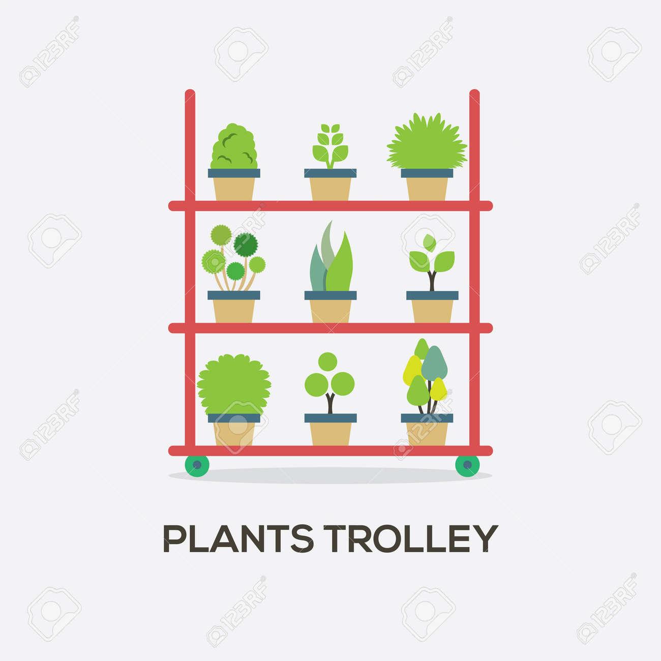 pflanzen trolley