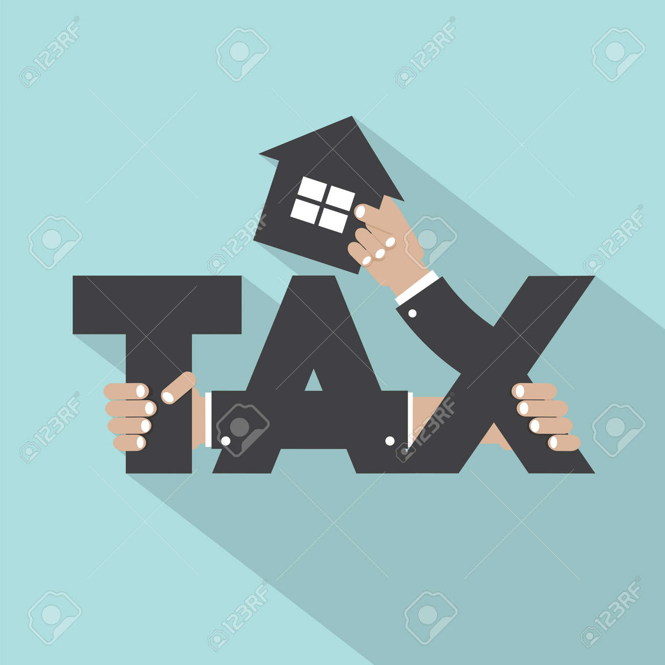 Home Tax Typography Design Vector Illustration - 40182150