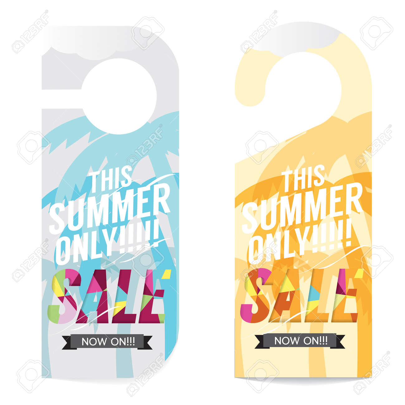 summer sale tag template vector illustration royalty free cliparts