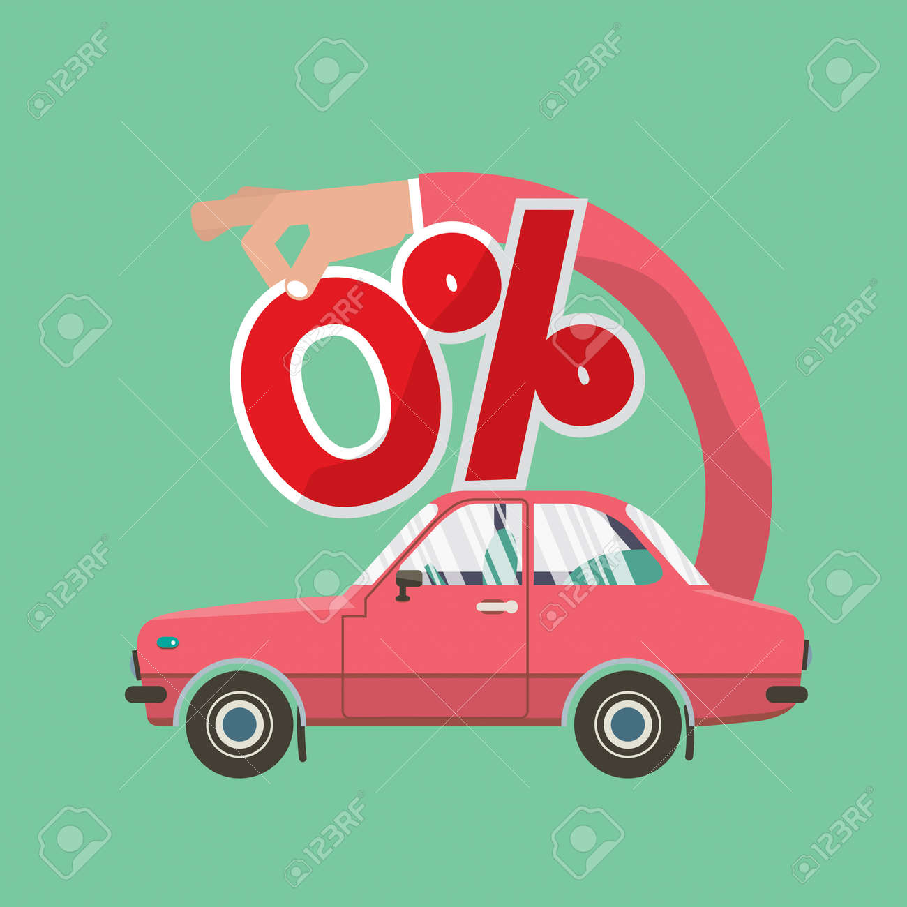 Zero Percent Car Loan Vector Illustration Royalty Free Cliparts ...