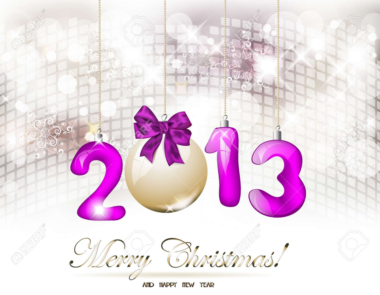 2013 Happy New Year greeting card Stock Vector - 16458196