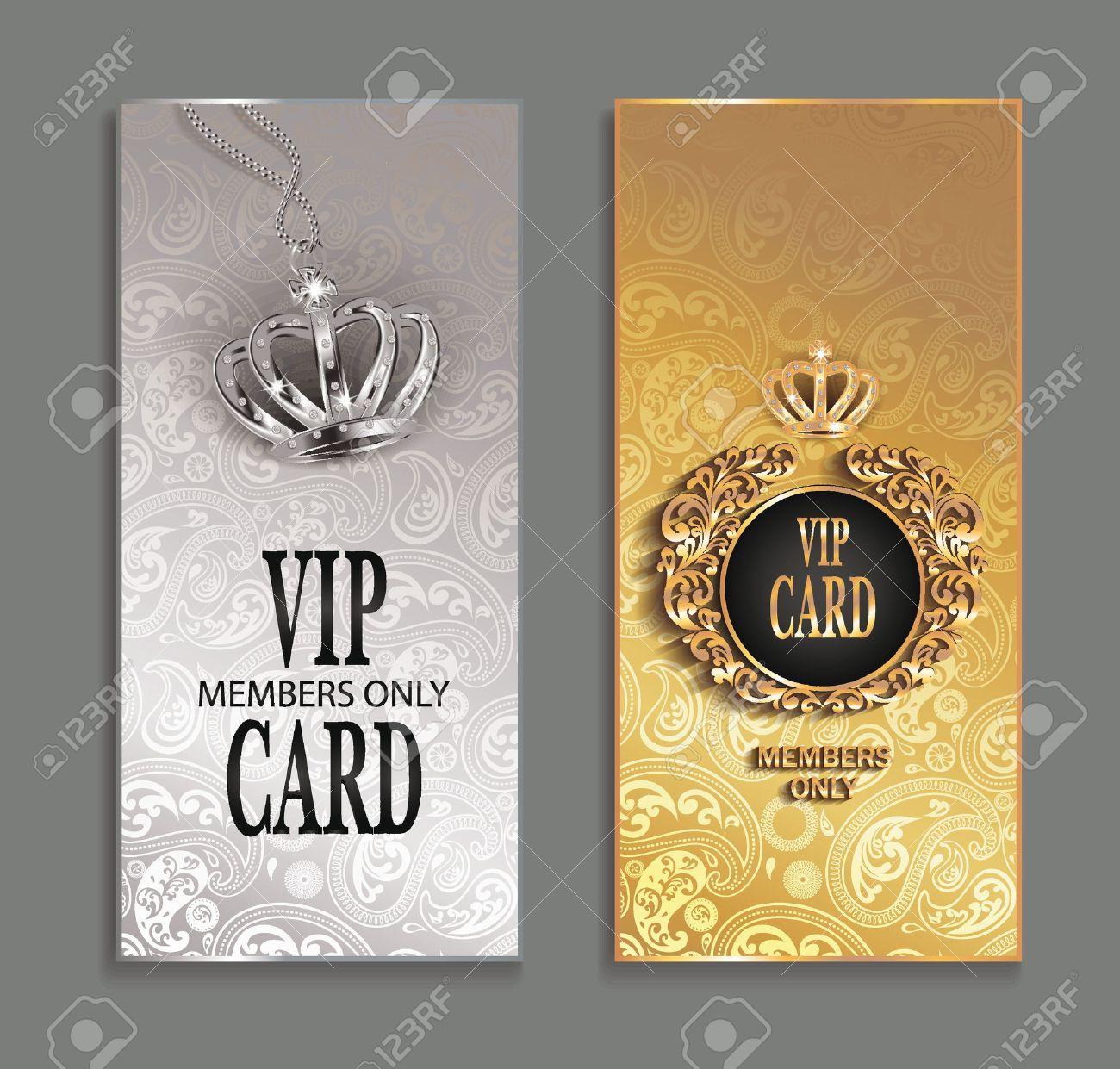 elegant invitation VIP cards with floral design - 39293666