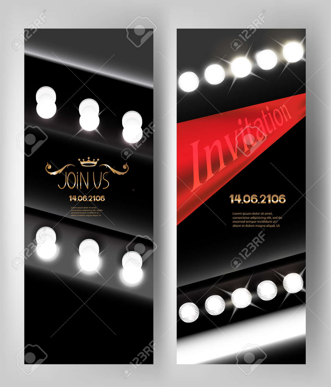 Abstract invitation card with light bulbs and red ribbon vector abstract invitation card with light bulbs and red ribbon vector illustration stock vector 61252645 stopboris Image collections