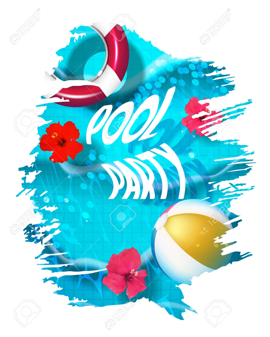 pool splash vector. Interesting Pool Pool Party Composition In Paint Splash Vector Illustration Stock   76730147 With Pool Splash E