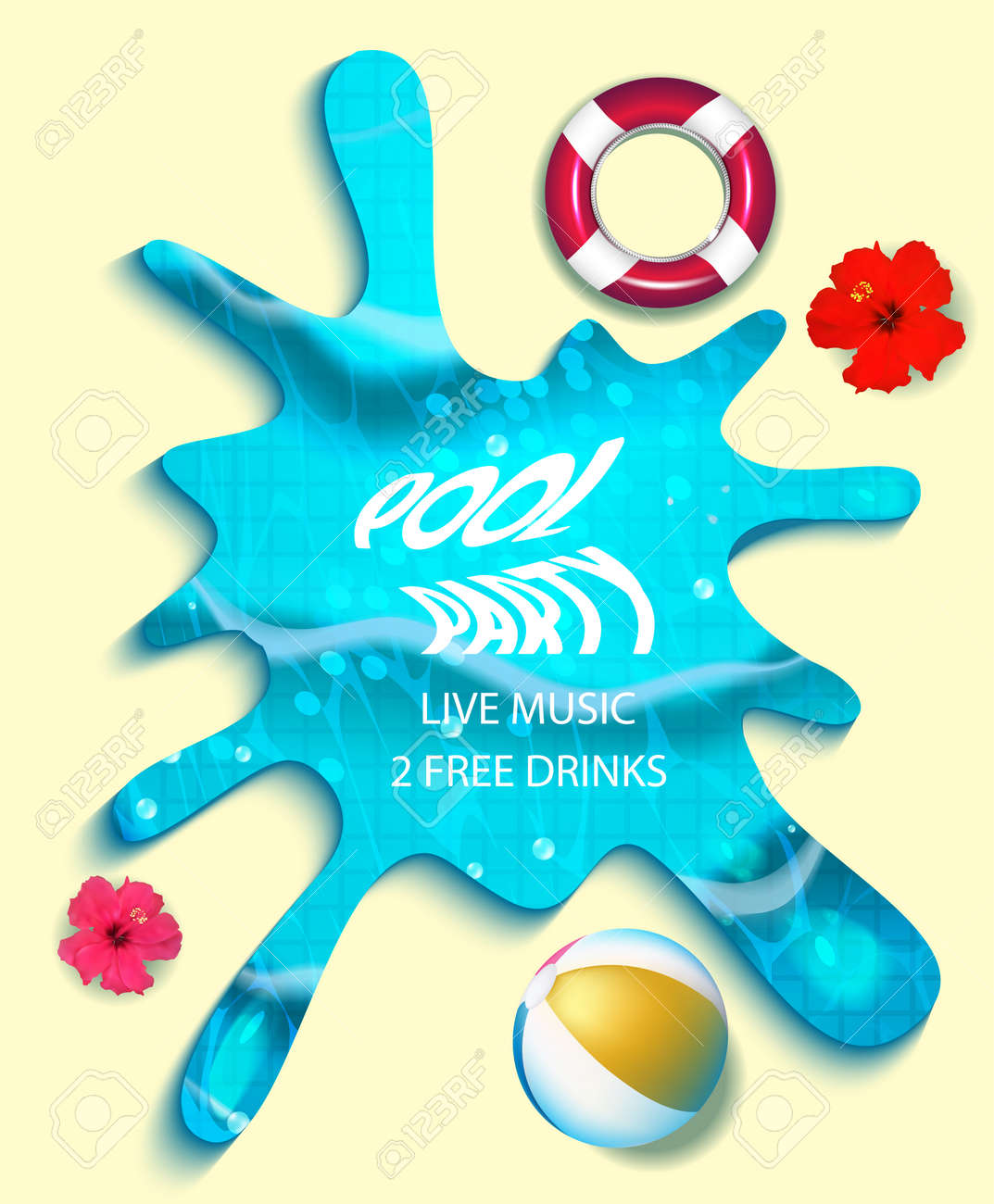 pool splash vector. Perfect Pool Pool Party Composition In Water Splash Vector Illustration Stock   76730162 Inside Splash 123RFcom