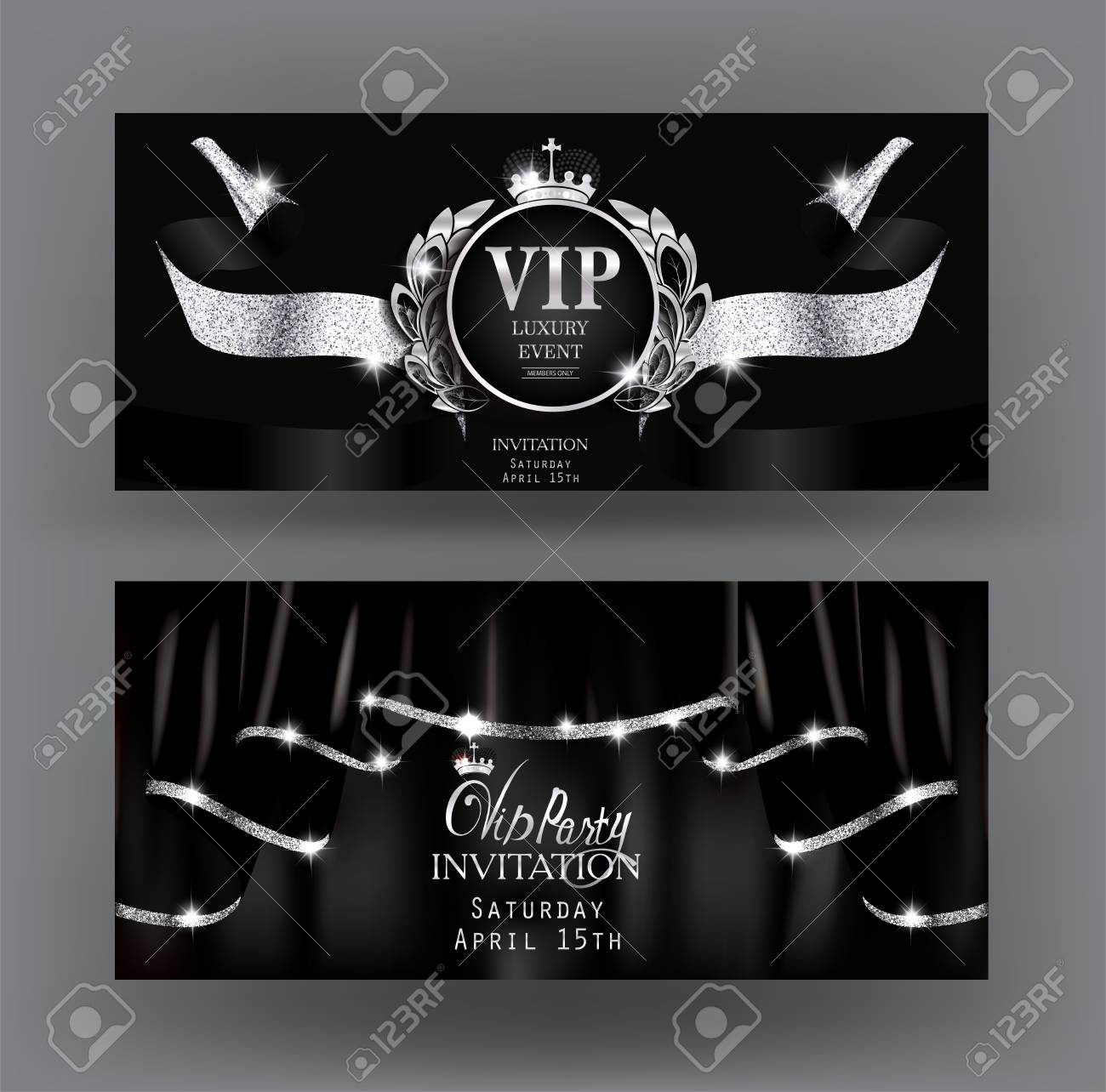 Sparkling Silver Banners Baby Toy Banners