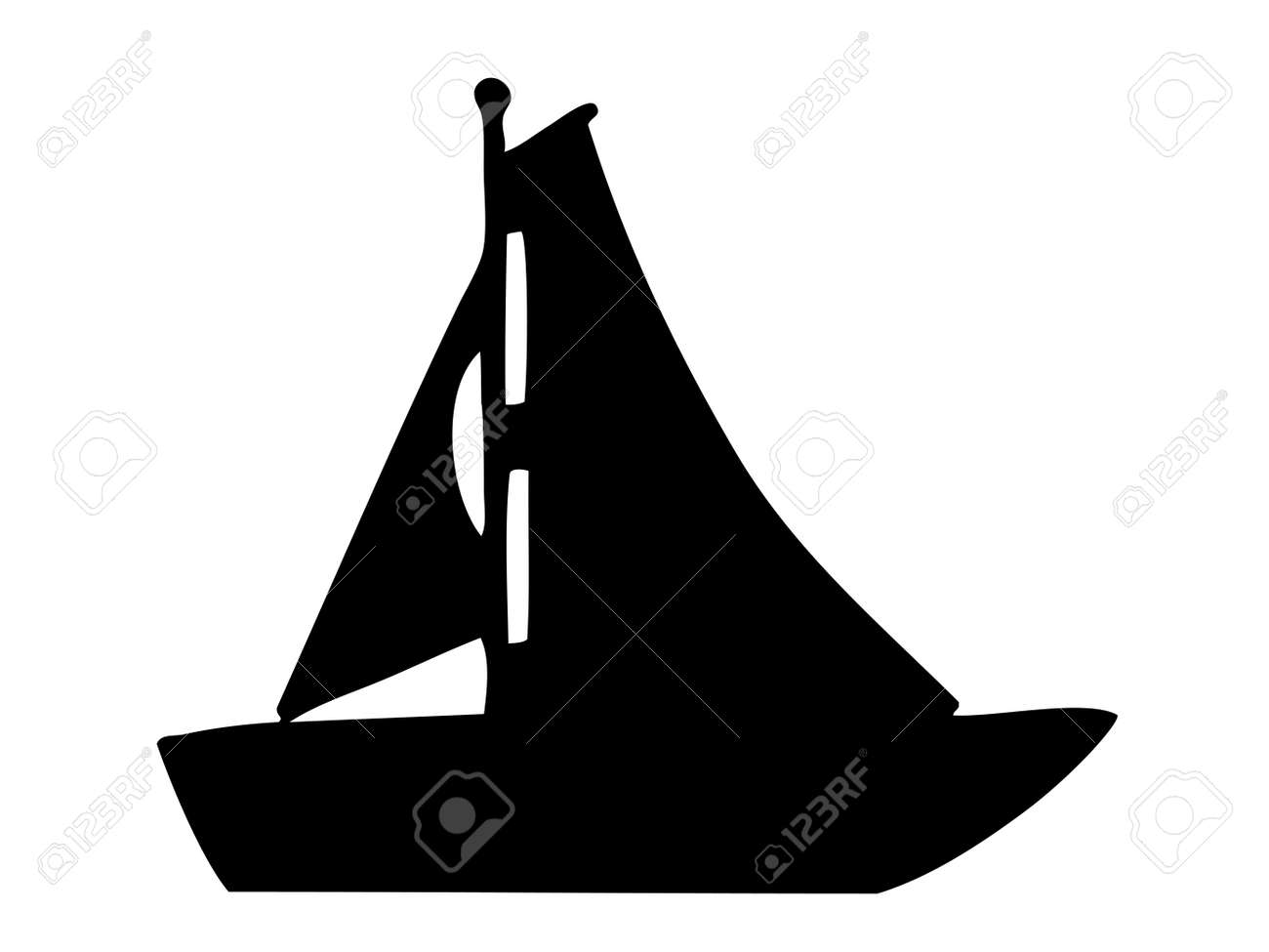 sailboat silhouette royalty free cliparts, vectors, and stock