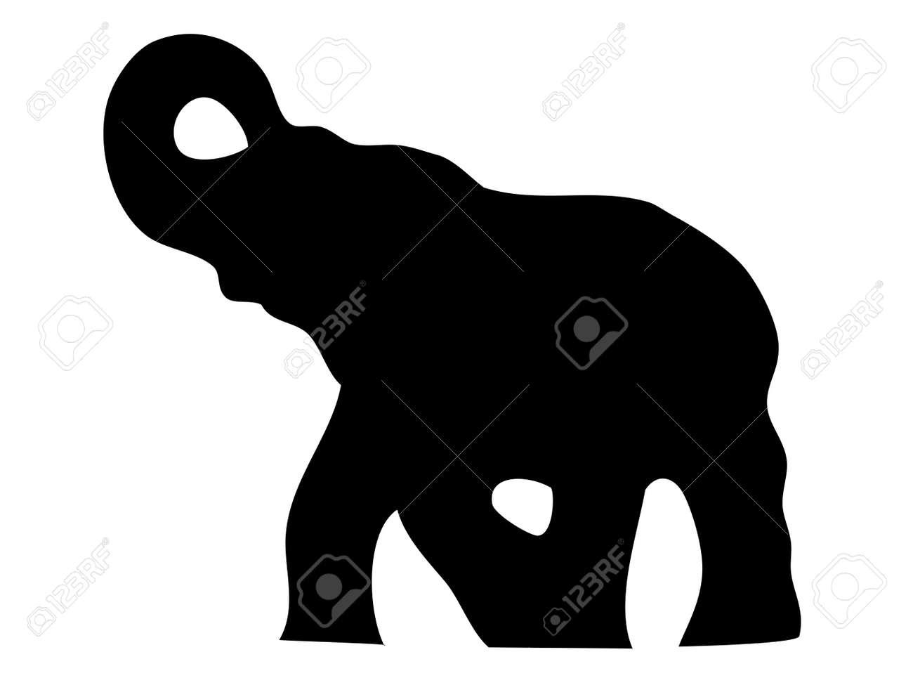 Elephant silhouette Stock Vector - 11446580