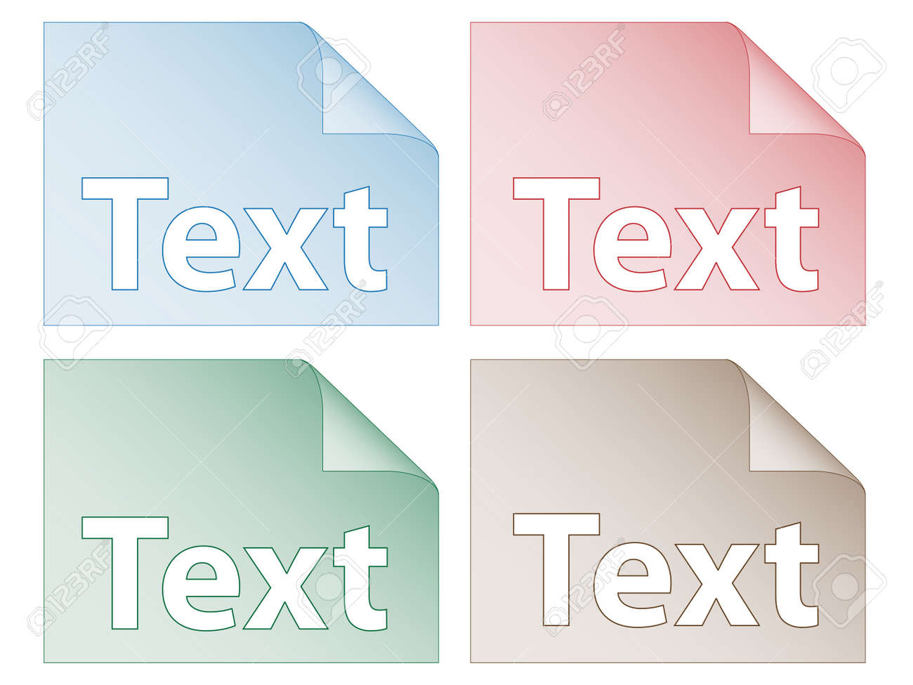 set of labels Stock Vector - 11468227