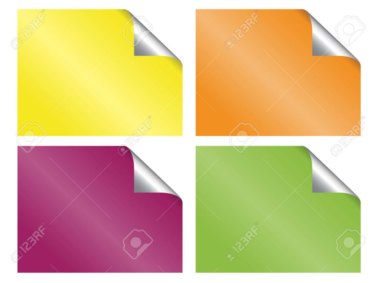 set of blank stickers Stock Vector - 11468202