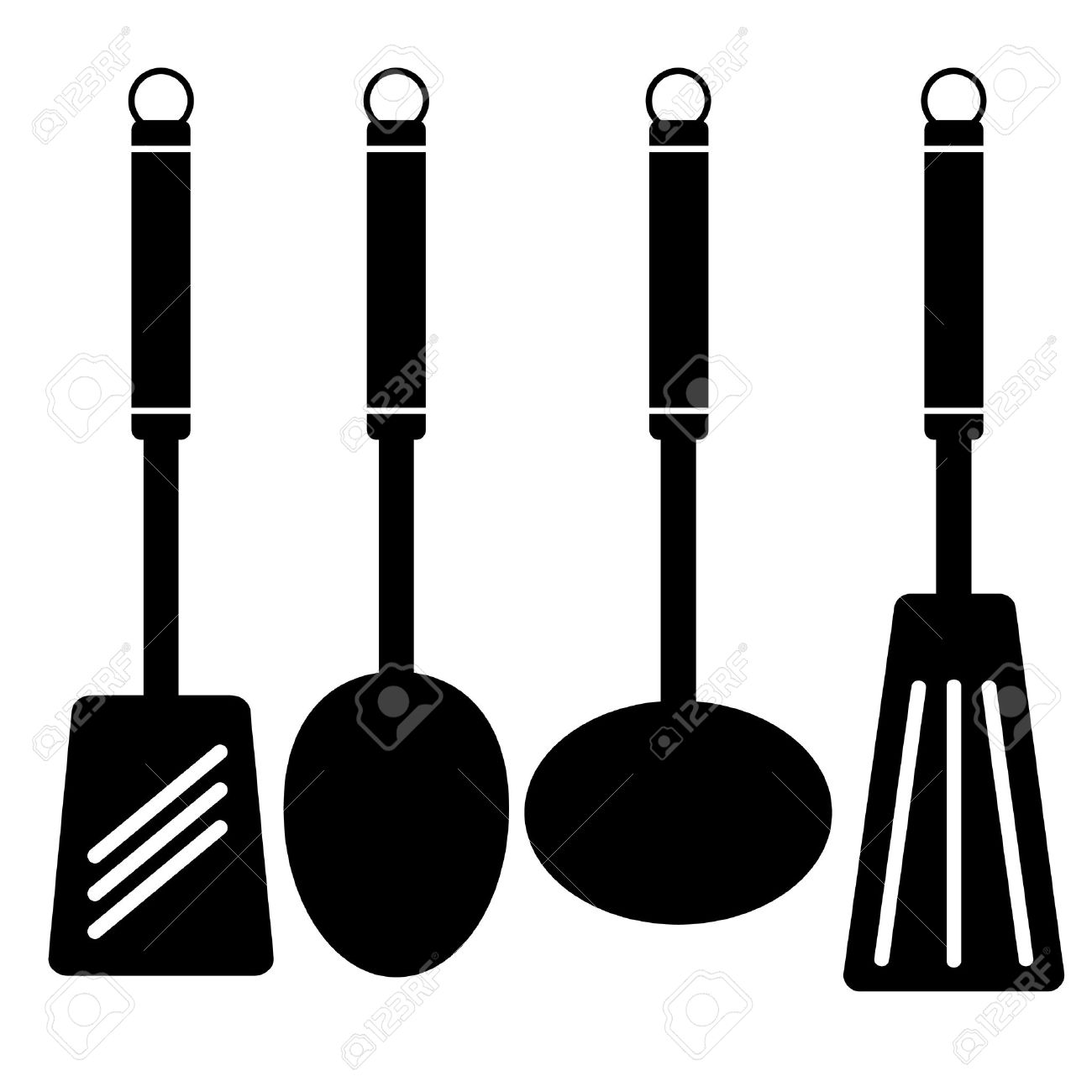 Kitchen Stencil Vector Hollow Ware Royalty Free Cliparts Vectors And Stock