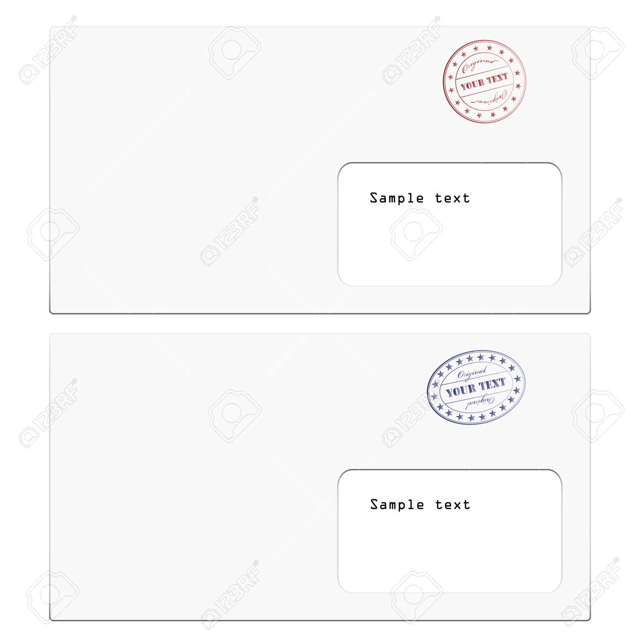 vector envelopes with a stamp Stock Vector - 11486874