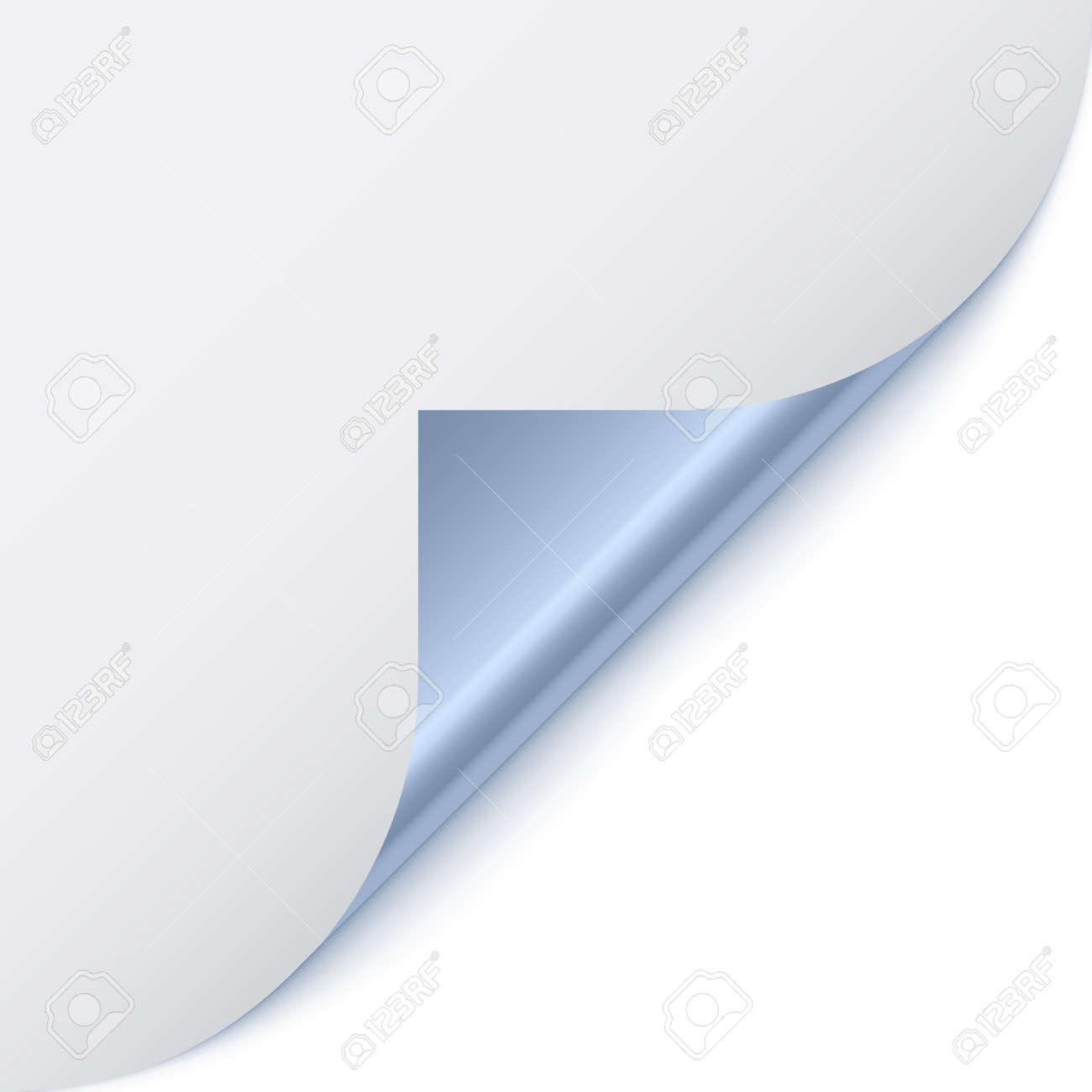 vector page corner with metallic backs Stock Vector - 11486898