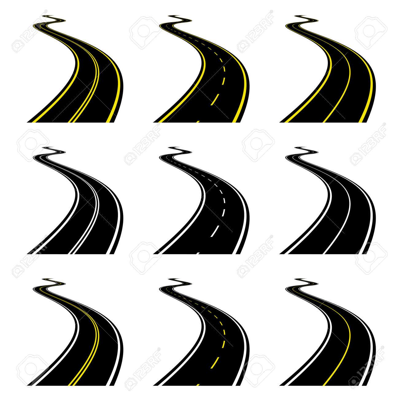 vector roads Stock Vector - 11504960
