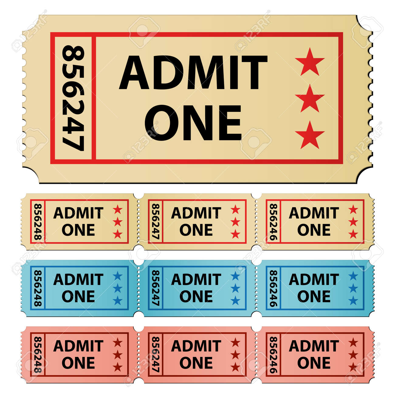 vector tickets Stock Vector - 11504845