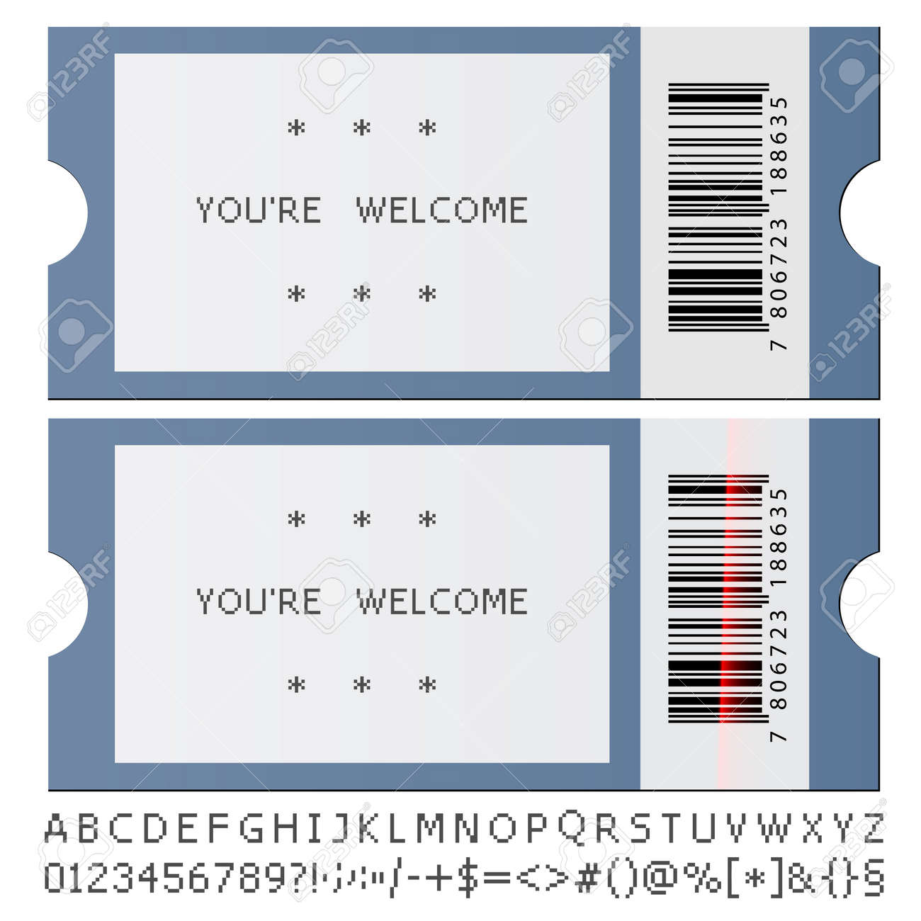 Vector Modern Tickets Royalty Free Cliparts Vectors And – Free Printable Event Ticket Templates
