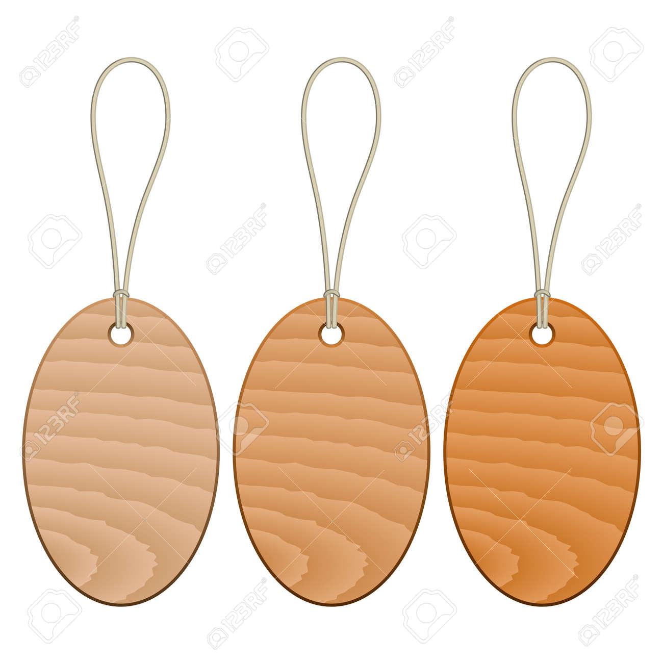 vector wooden tags Stock Vector - 11504868
