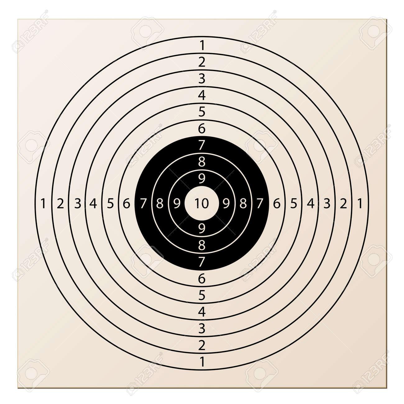 vector paper rifle target Stock Vector - 11504089