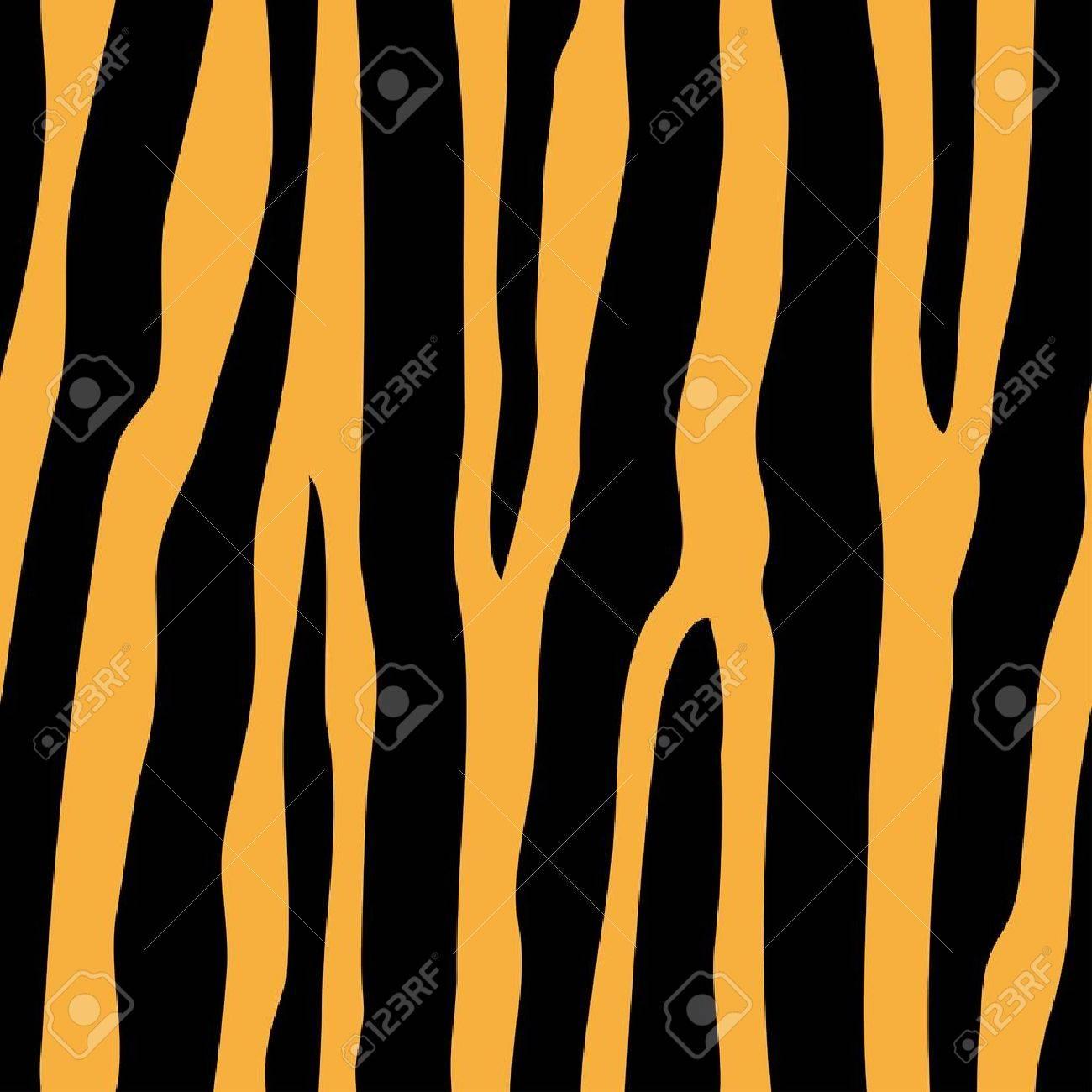vector seamless tiger pattern - 11501630
