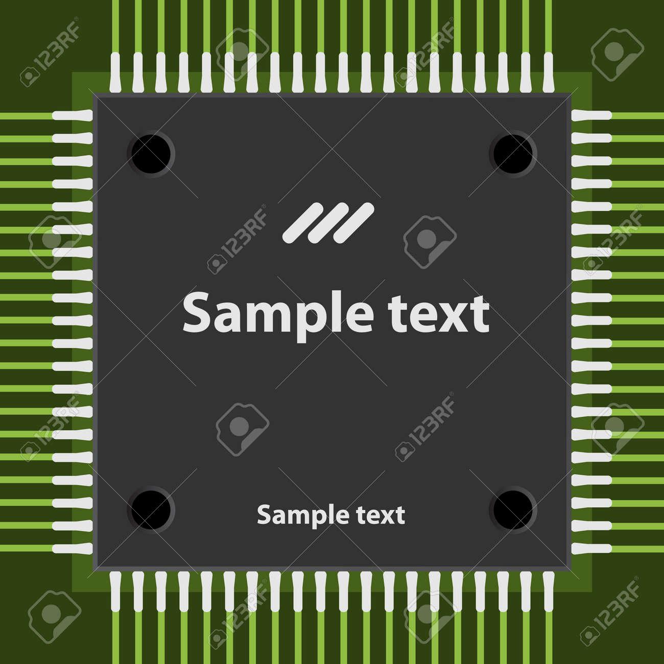 vector microchip Stock Vector - 11504243