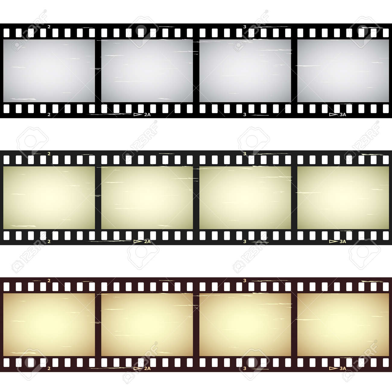 vector scratched seamless film strips Stock Vector - 11504938