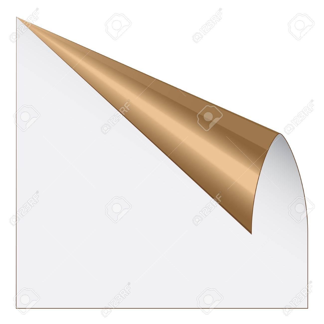 vector page corner with metallic backs Stock Vector - 11504038