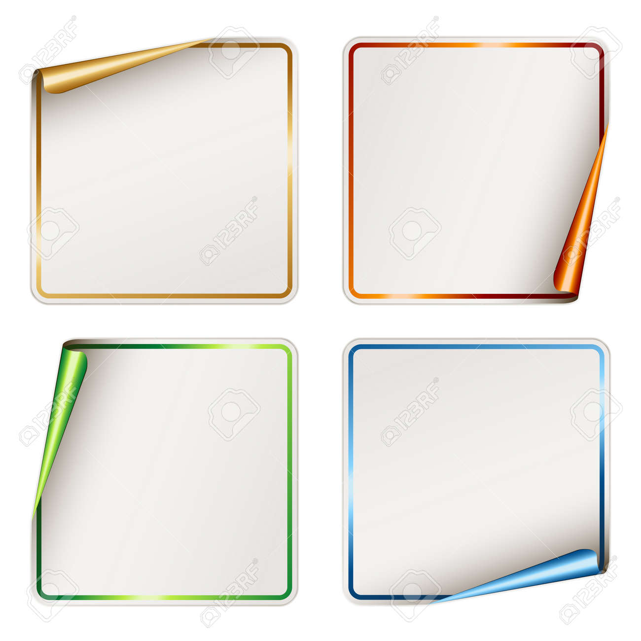 Vector Blank Festive Stickers Royalty Free Cliparts, Vectors, And ...