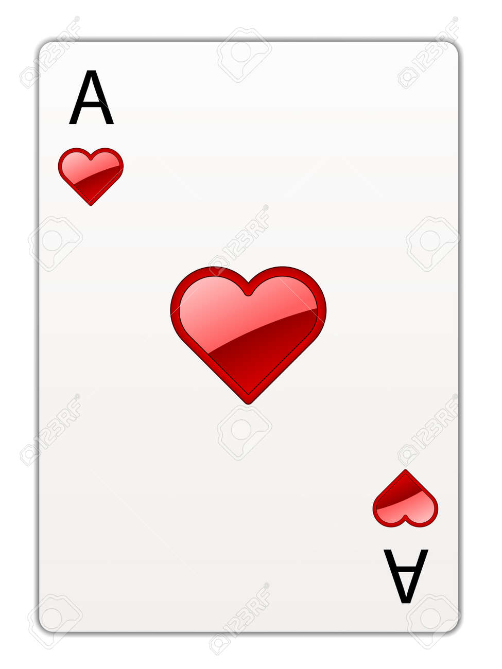 Poker Cards Hearts Vector Heart Ace Poker Card