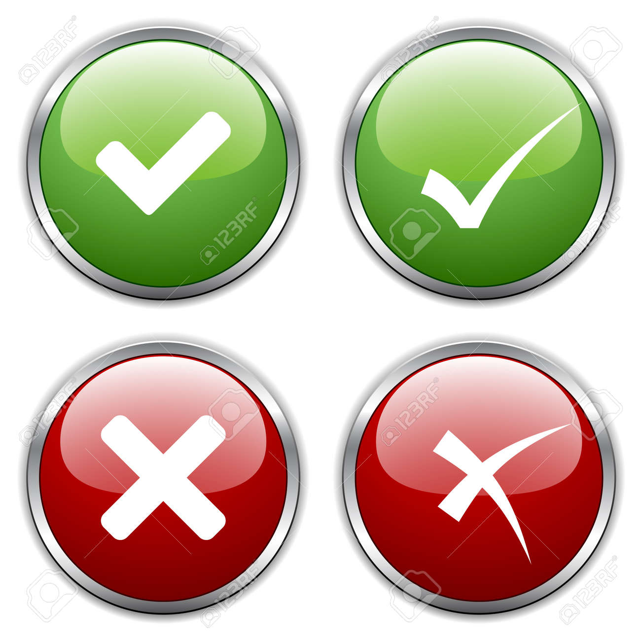 vector check mark buttons - 11520020