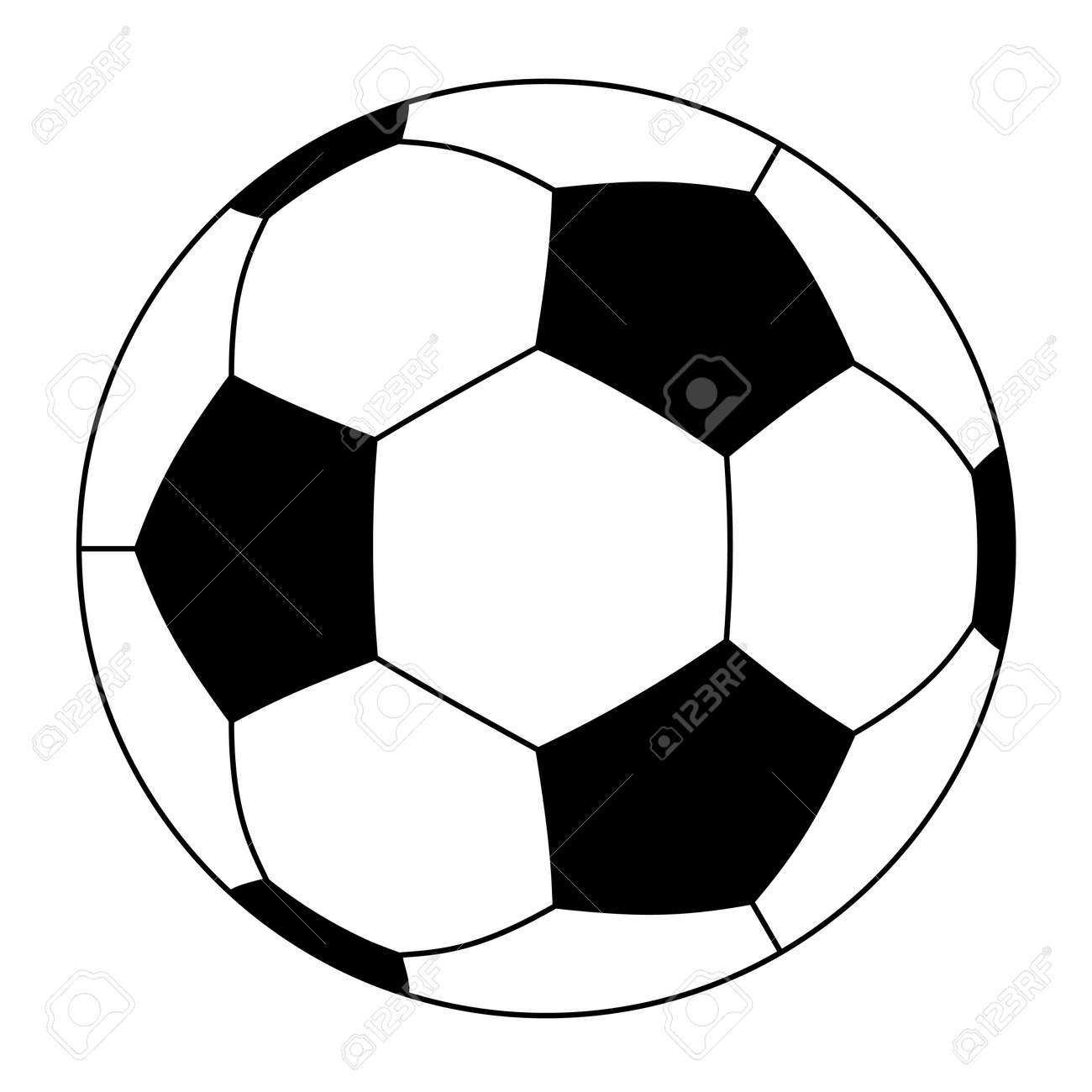 vector soccer ball (outline)