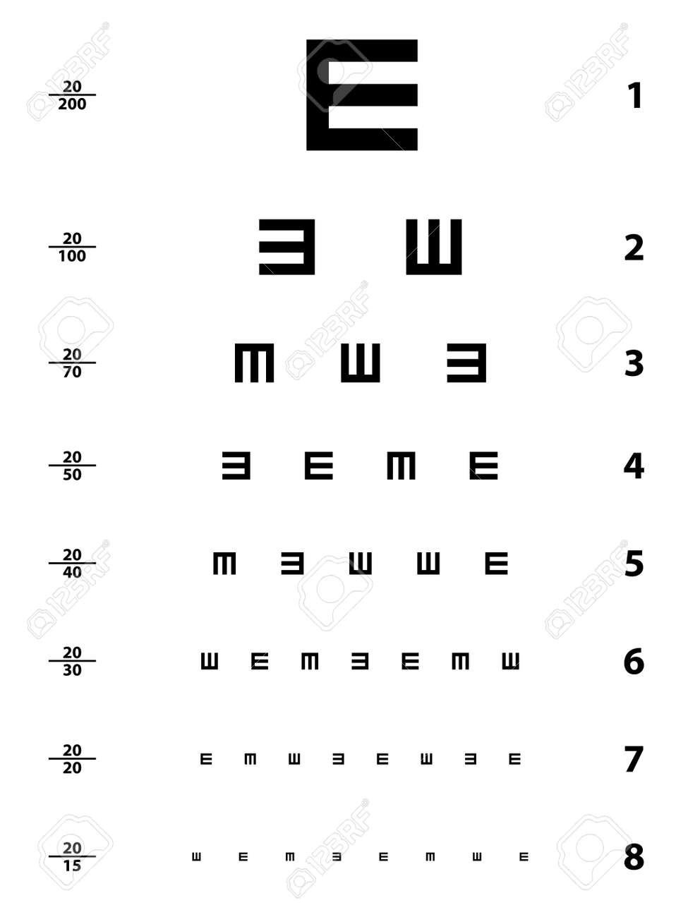 Vector snellen eye test chart royalty free cliparts vectors and vector snellen eye test chart stock vector 11520012 geenschuldenfo Choice Image