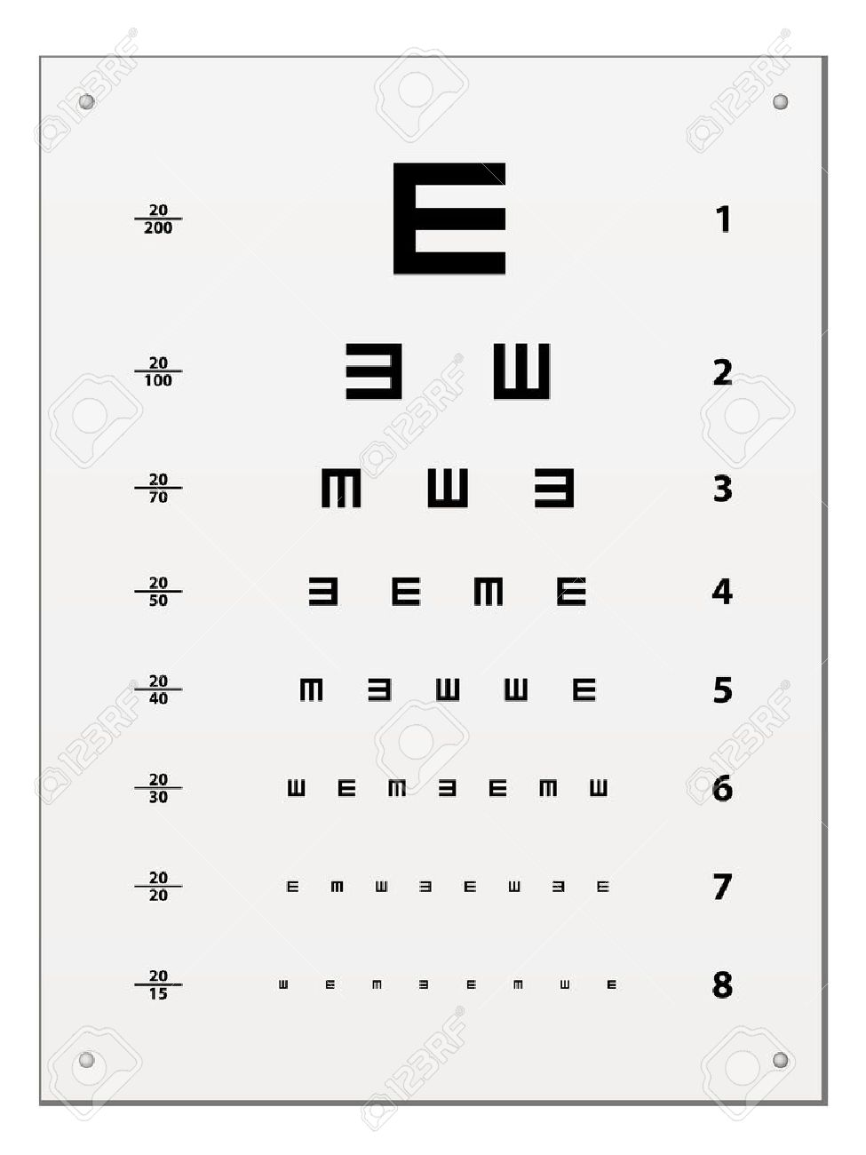 Vector snellen eye test chart royalty free cliparts vectors and vector snellen eye test chart stock vector 11520057 nvjuhfo Image collections