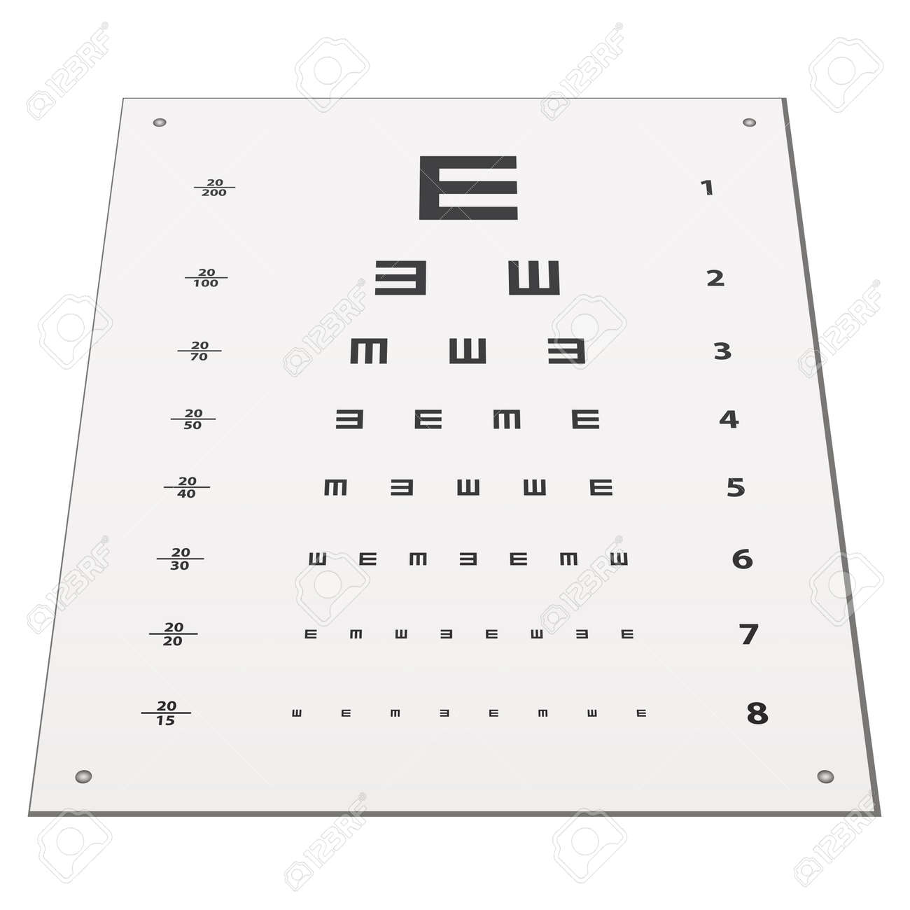 Vector Snellen Eye Test Chart Royalty Free Cliparts, Vectors, And ...
