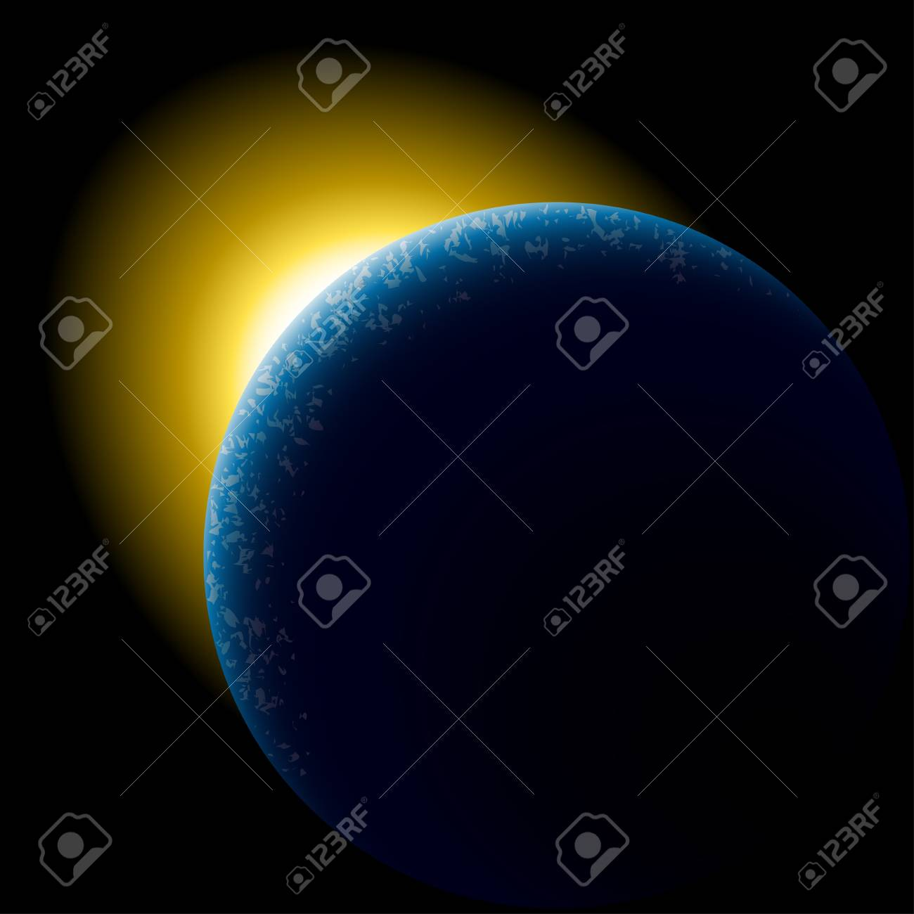 vector planet in space Stock Vector - 11520376