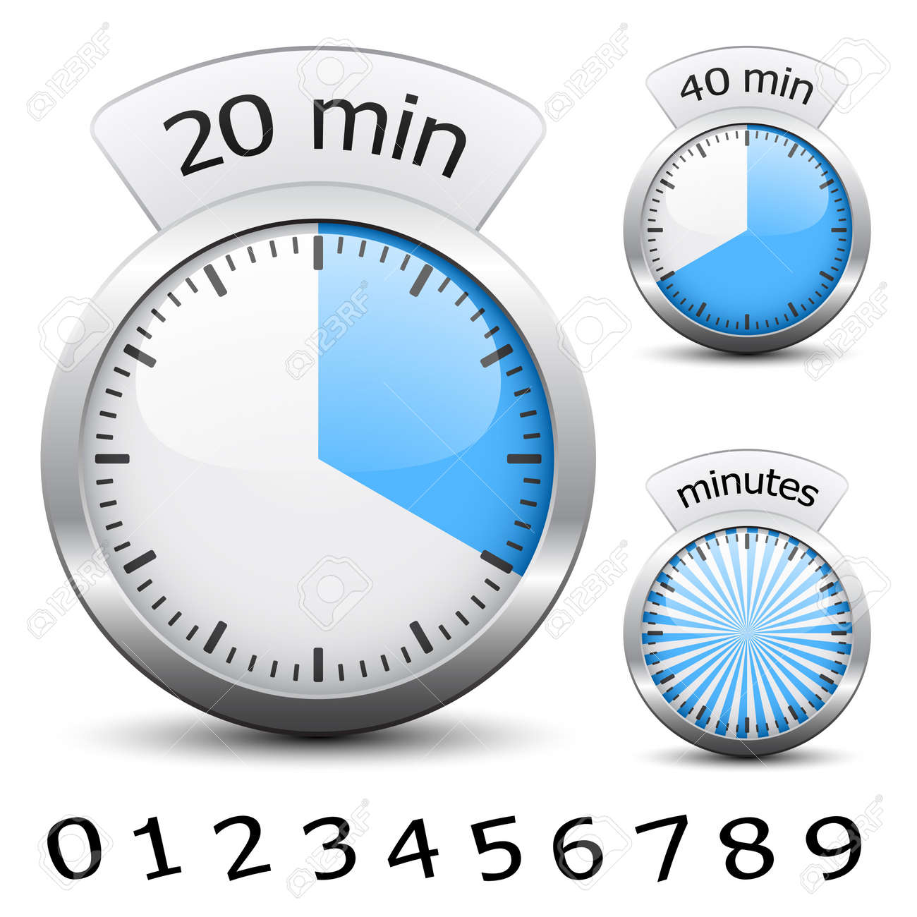 Vector timer - easy change time every one minute Stock Vector - 11525481