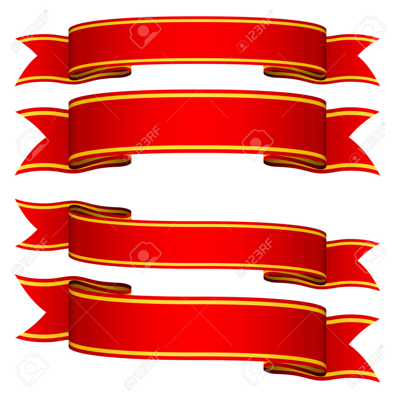 vector red ribbons royalty free cliparts vectors and stock rh 123rf com ribbon vectors for office ribbon vectors for office