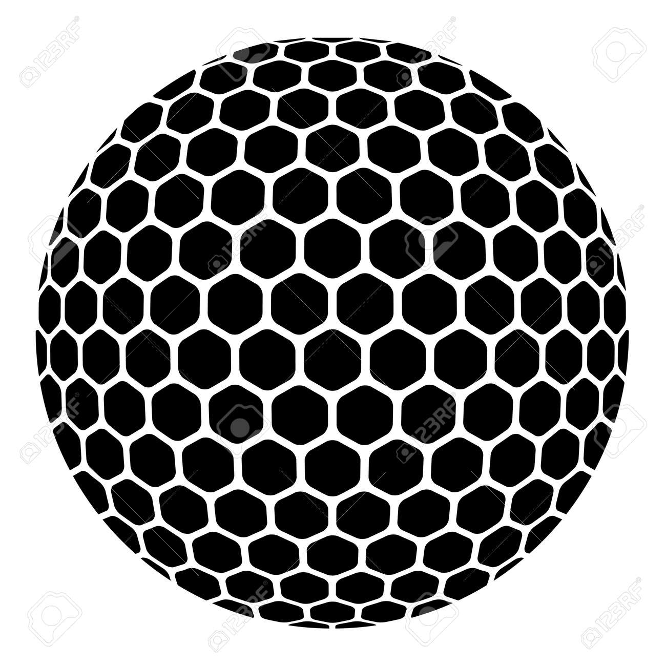 vector golf ball royalty free cliparts vectors and stock rh 123rf com Golf Ball Dimples On Car Purpose of Golf Ball Dimples