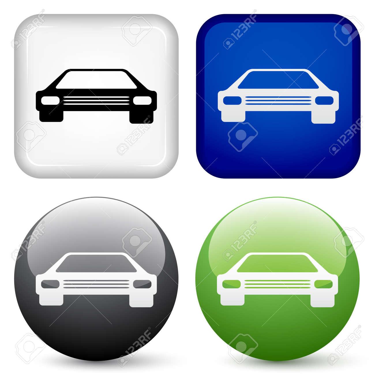 vector car buttons Stock Vector - 11520474