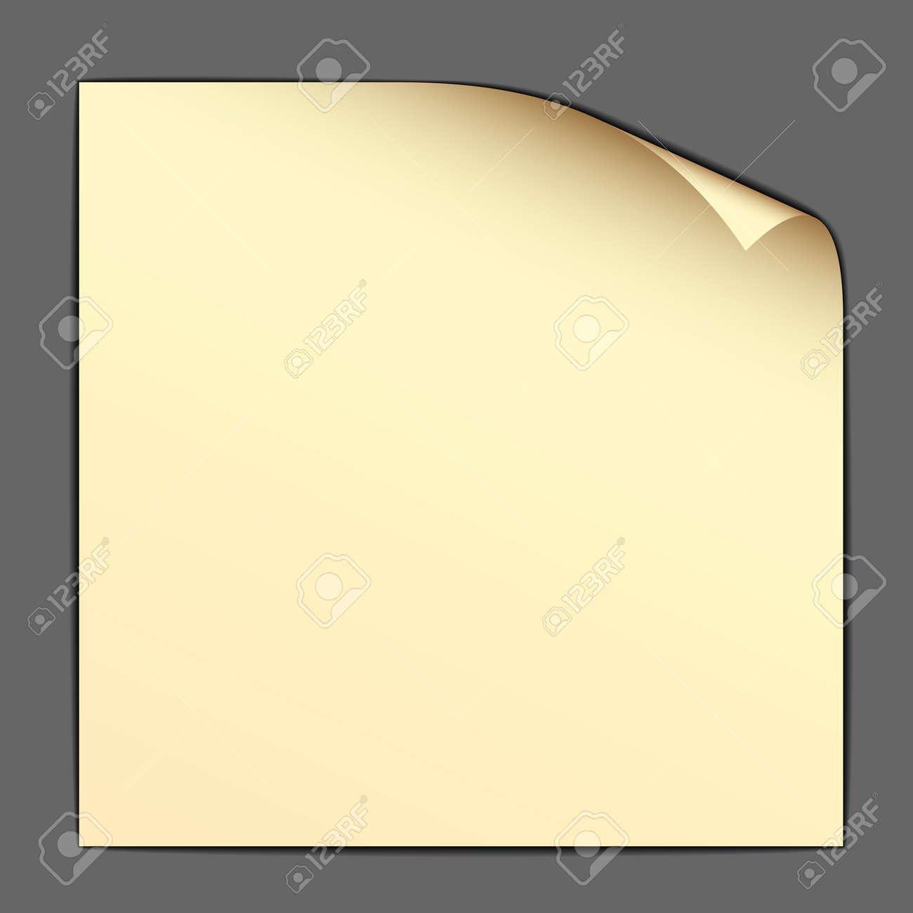 vector yellow bended paper Stock Vector - 11519844
