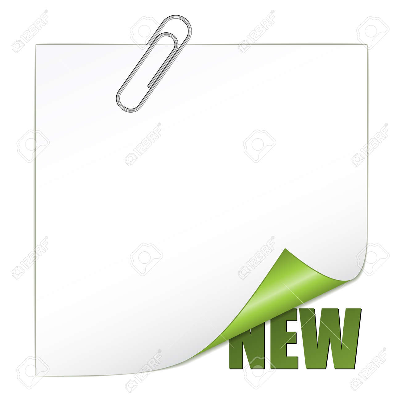 vector new corner with paperclip Stock Vector - 11520193