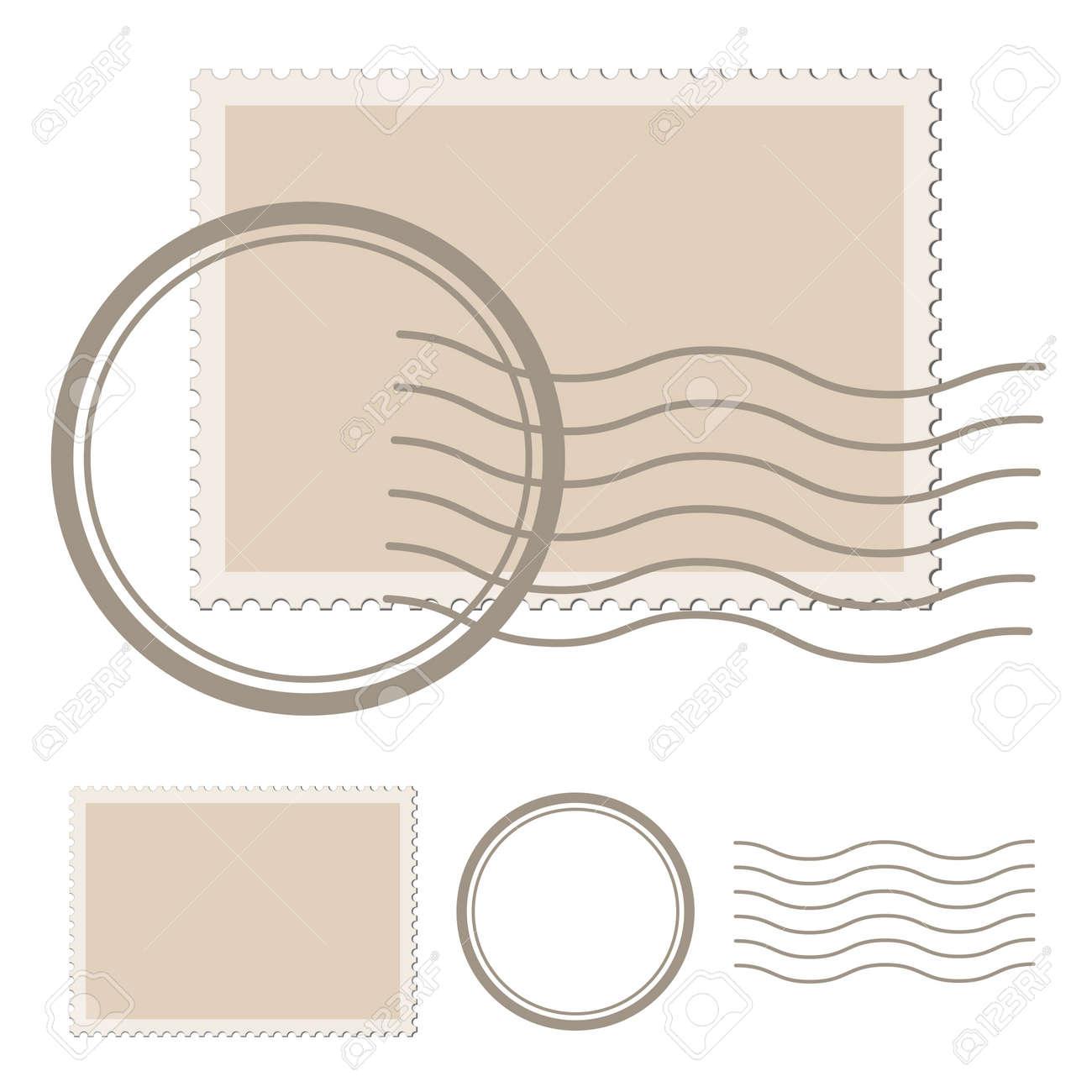 vector blank post stamp Stock Vector - 11520411