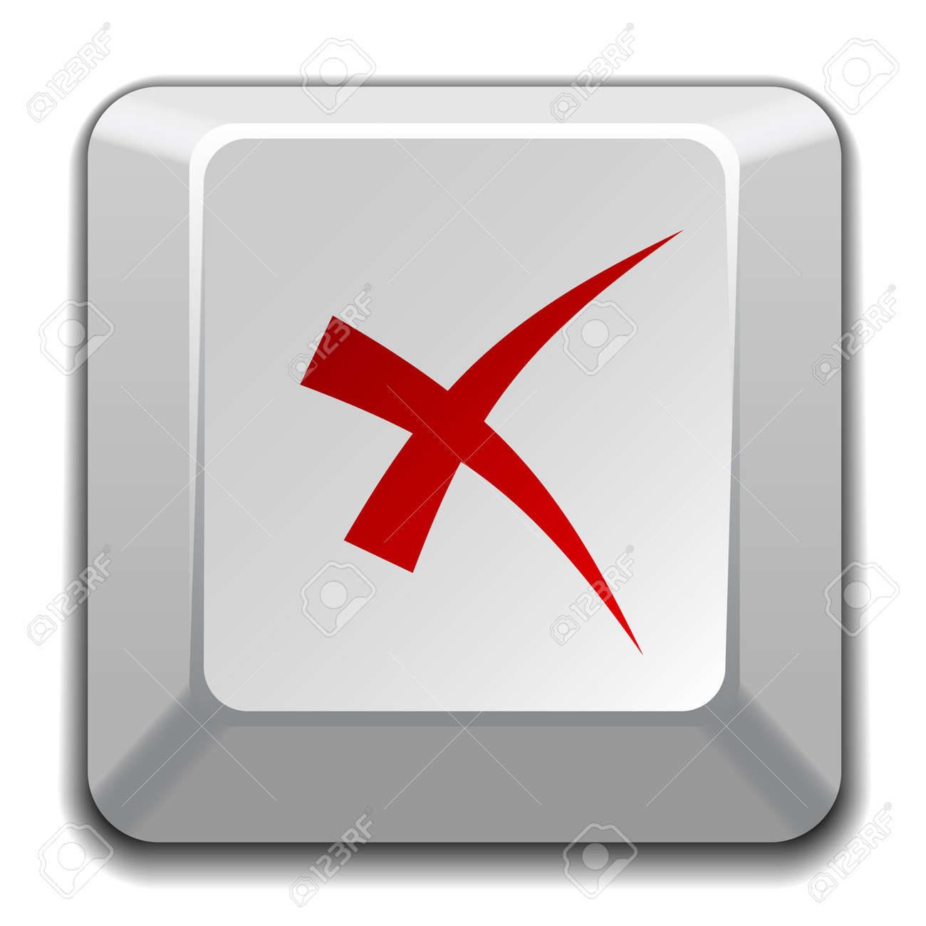 vector negative checkmark key Stock Vector - 11520385