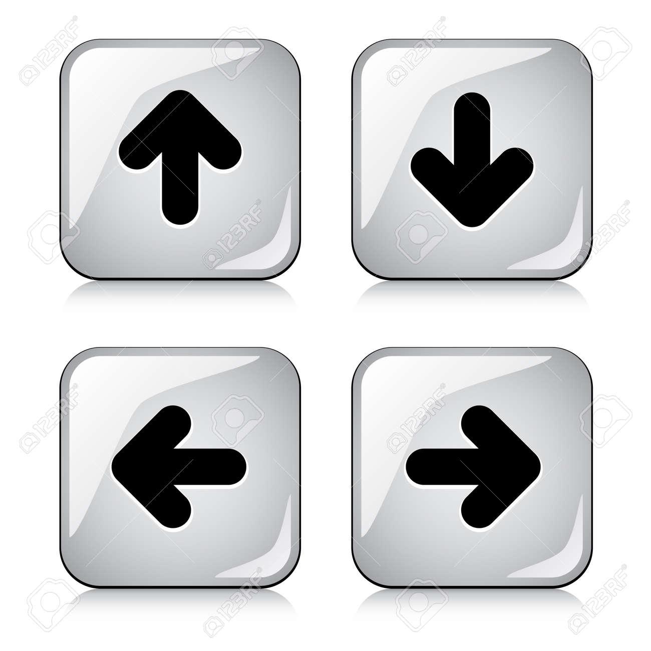 vector glossy arrow buttons Stock Vector - 11519936