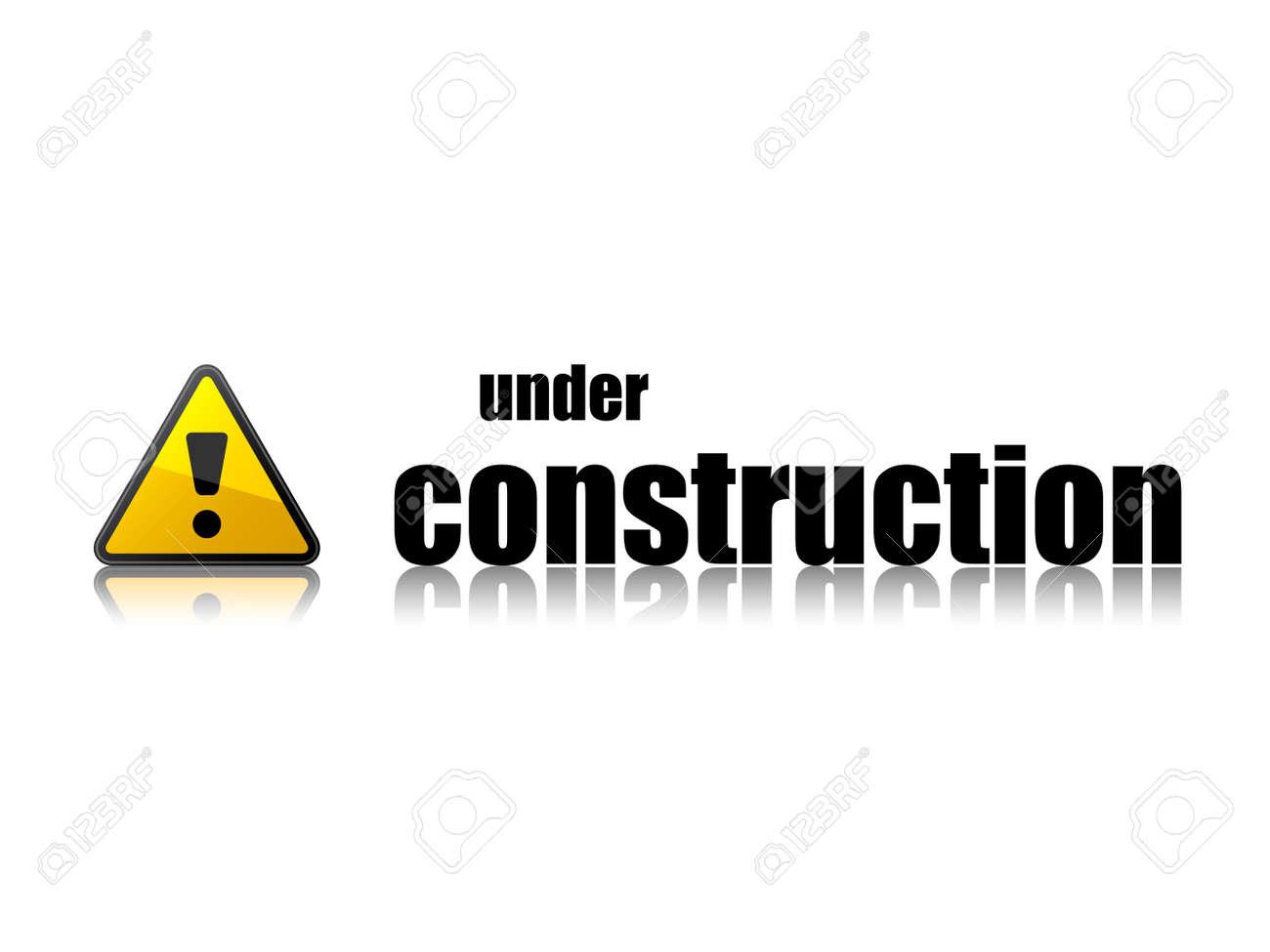 vector under construction template Stock Vector - 11520053