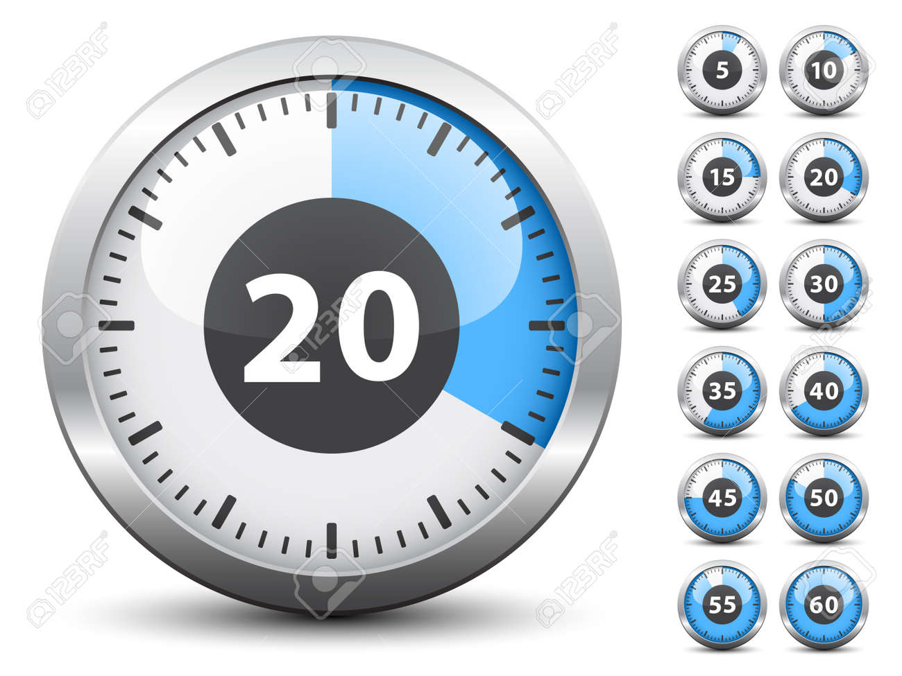 Vector timer - easy change time every one minute Stock Vector - 11525593