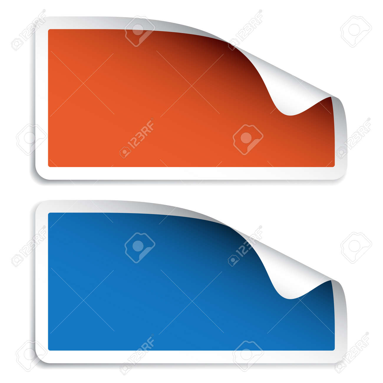 Vector Blank Stickers Royalty Free Cliparts, Vectors, And Stock ...