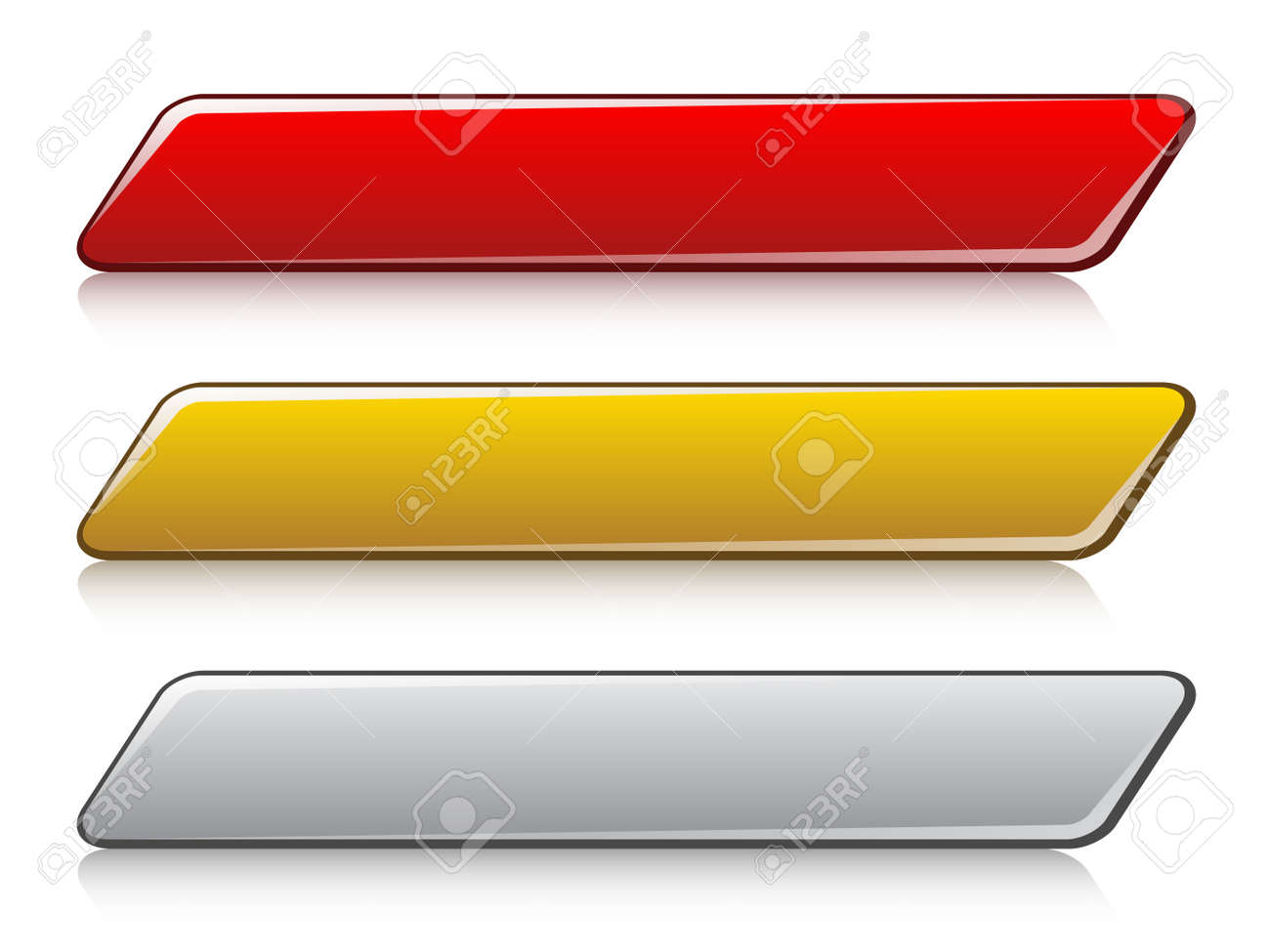 vector glossy buttons Stock Vector - 11519941
